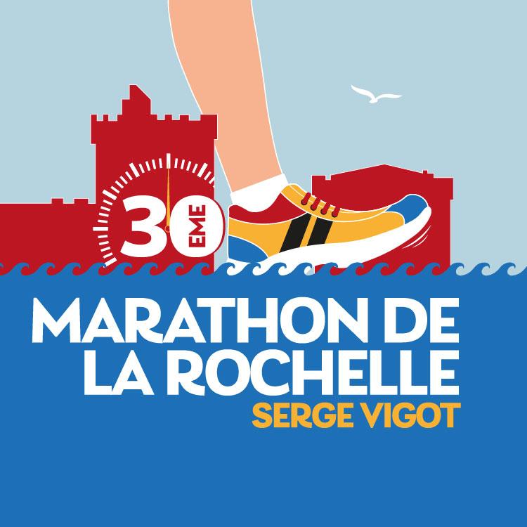 Bénévole parcours (signaleur) Marathon de La Rochelle Serge Vigot